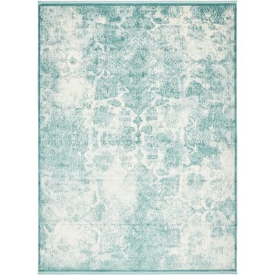 Jacobson Blue Area Rug Rug Size: 9 x 12