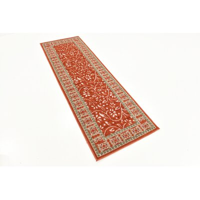 McCabe Rust Red Indoor/Outdoor Area Rug Rug Size: Runner 2 x 6