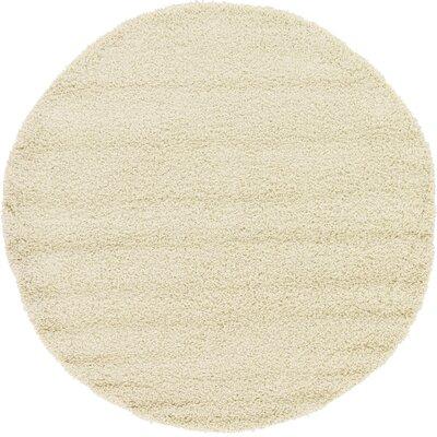 Lilah Basic Ivory Area Rug Rug Size: Round 6