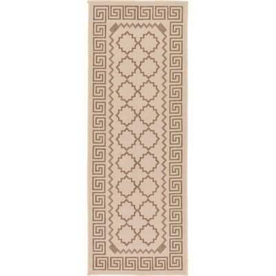 Georgianna Beige Outdoor Area Rug Rug Size: Runner 22 x 6