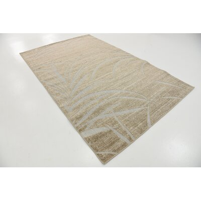 Spathariko Beige Indoor/Outdoor Area Rug Rug Size: 5 x 8