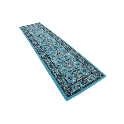 Southern Turquoise Area Rug Rug Size: Runner 3 x 165