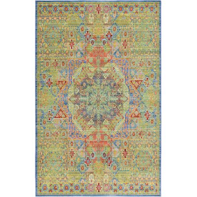 Rune Green Area Rug Rug Size: Rectangle 5 x 8