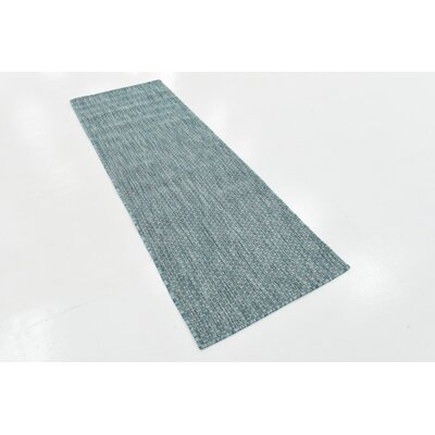 Janet Aquamarine Indoor/Outdoor Area Rug Rug Size: Runner 2' x 6'