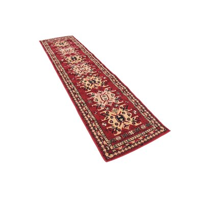 Valley Red Area Rug Rug Size: Runner 3 x 165