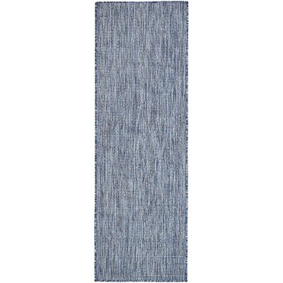 Janet Blue Indoor/Outdoor Area Rug Rug Size: Rectangle 9 x 12