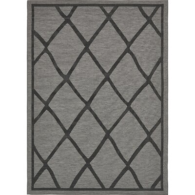 Bradley Gray Outdoor Area Rug Rug Size: Rectangle 9 x 12