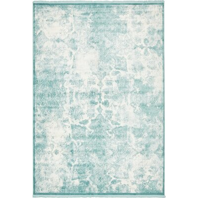 Jacobson Blue Area Rug Rug Size: 7 x 10