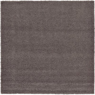 Lilah Dark Gray Area Rug Rug Size: Square 82