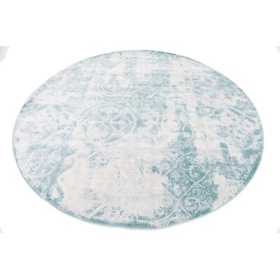 Jacobson Floral Blue Area Rug Rug Size: Rectangle 4 x 6