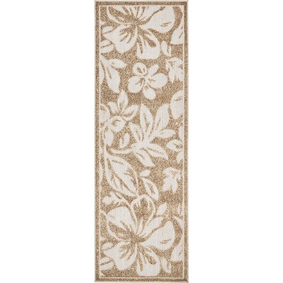 Duxbury Beige Indoor/Outdoor Area Rug Rug Size: Runner 2 x 6