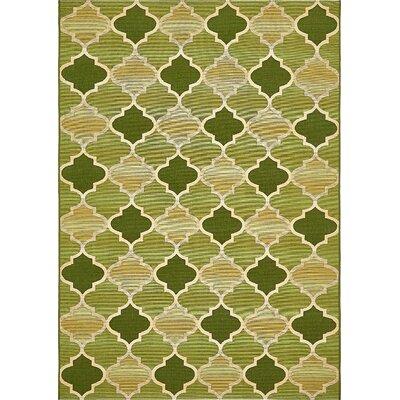 Alice Green Indoor/Outdoor Area Rug Rug Size: Rectangle 53 x 8