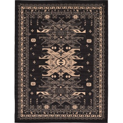 Valley Black Area Rug Rug Size: 9 x 12