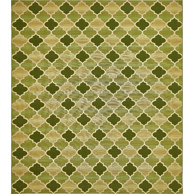 Alice Green Indoor/Outdoor Area Rug Rug Size: 10 x 12