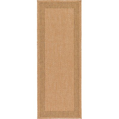 Kennell Light Brown Outdoor Area Rug Rug Size: Runner 22 x 6
