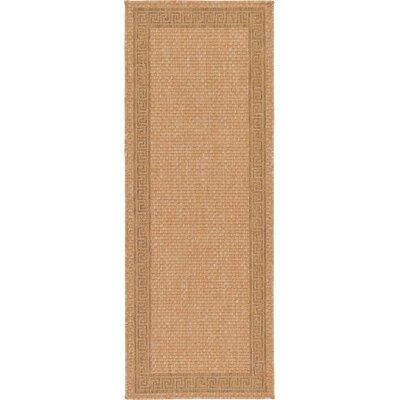 Kennebunk Light Brown Outdoor Area Rug Rug Size: Runner 22 x 6