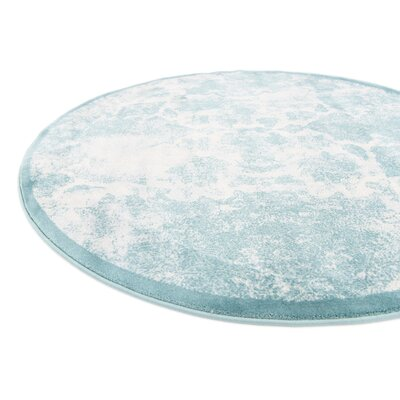 Jacobson Blue Area Rug Rug Size: Round 4