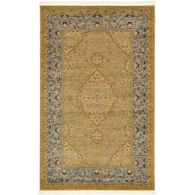Fonciere Light Brown Area Rug Rug Size: 33 x 53