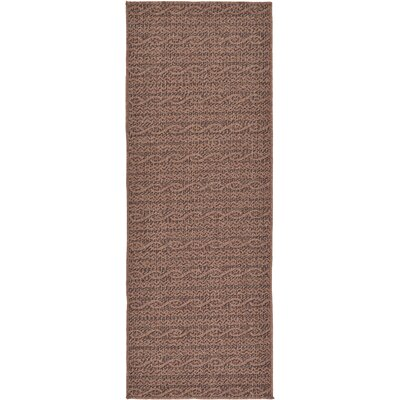 Robbinston Brown Outdoor Area Rug Rug Size: Runner 22 x 6
