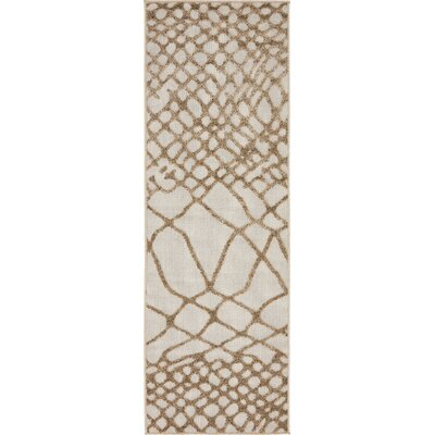 Jessie Cream Indoor/Outdoor Area Rug Rug Size: 6 x 2