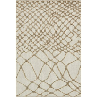 Jessie Cream Indoor/Outdoor Area Rug Rug Size: 4 x 6