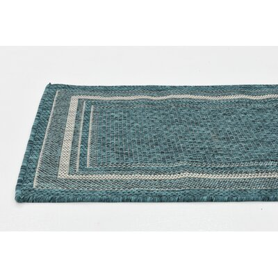 Keira Teal Outdoor Area Rug Rug Size: 7 x 10