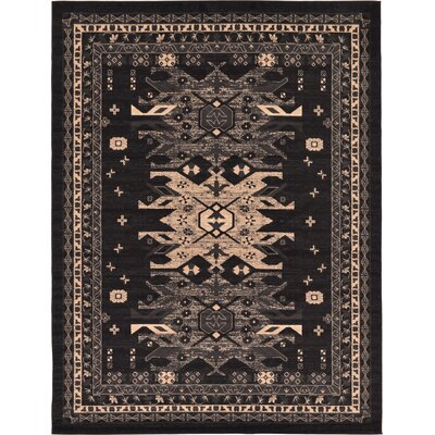 Valley Black Area Rug Rug Size: 7 x 10