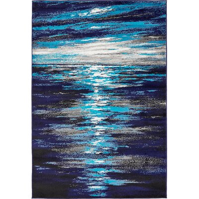 Sidney Navy Blue Area Rug Rug Size: Rectangle 8 x 10