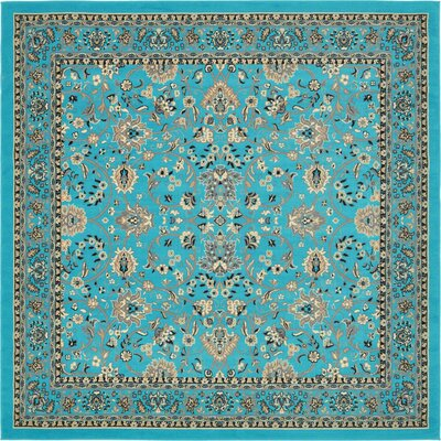 Southern Turquoise Area Rug Rug Size: Square 8