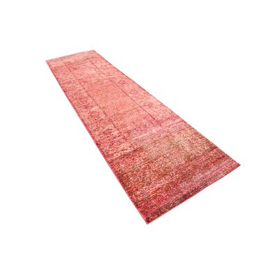 Rune Red Area Rug Rug Size: Runner 27 x 91