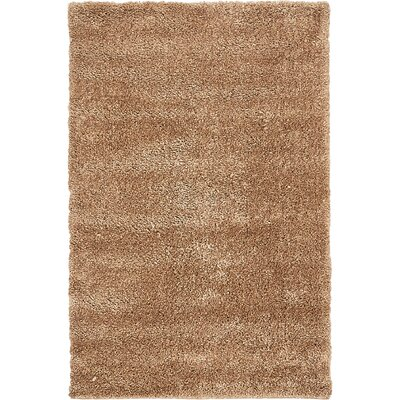 Truett Light Brown Area Rug Rug Size: Round 6