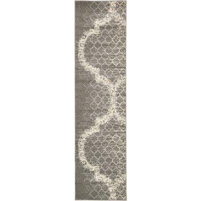 Steinbeck Light Gray Area Rug Rug Size: Runner 27 x 10
