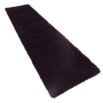 Lilah Black Area Rug Rug Size: 22 x 65