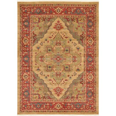 Zoey Light Brown Area Rug Rug Size: 82 x 116