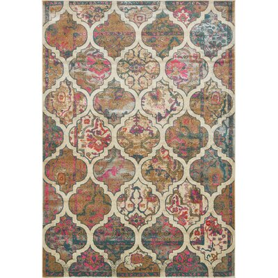 Jaiden Beige Area Rug Rug Size: Rectangle 6 x 9