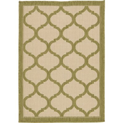 Vivian Beige Outdoor Area Rug Rug Size: Rectangle 53 x 8