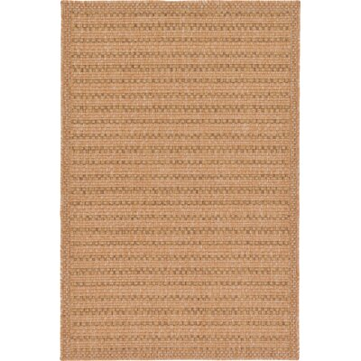 Chasew City Light Brown Indoor/Outdoor Area Rug Rug Size: Rectangle 5 x 8