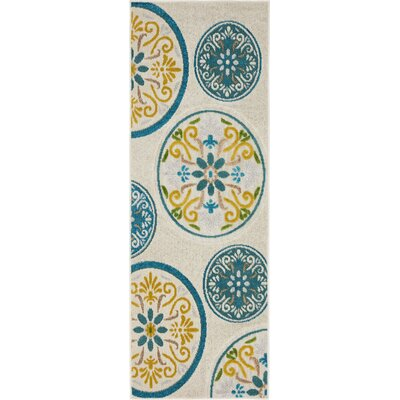 Janet Cream Indoor/Outdoor Area Rug Rug Size: 6 x 2