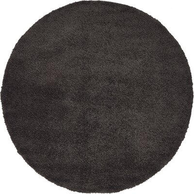 Sydnee Charcoal Area Rug Rug Size: Round 6
