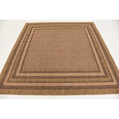Rockwood Light Brown Outdoor Area Rug Rug Size: 9 x 12
