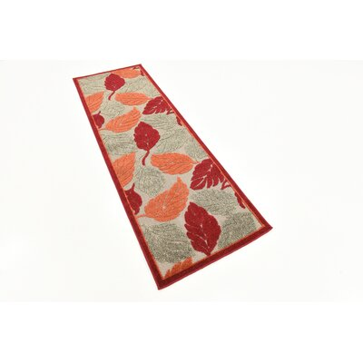 Westerly Beige/Red Indoor/Outdoor Area Rug Rug Size: Runner 2 x 6