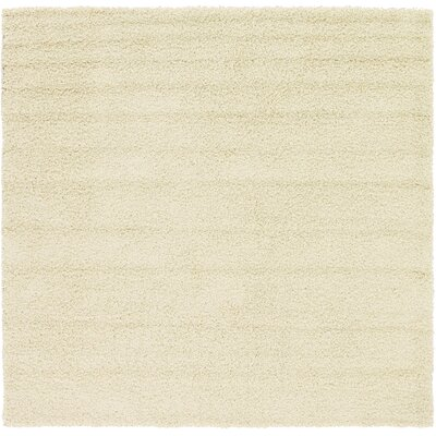 Lilah Basic Ivory Area Rug Rug Size: Square 82, Rug Color: Pure Ivory