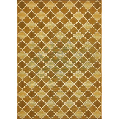 Alice Gold Indoor/Outdoor Area Rug Rug Size: Rectangle 22 x 3