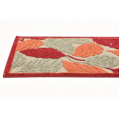 Westerly Beige/Red Indoor/Outdoor Area Rug Rug Size: 9 x 12