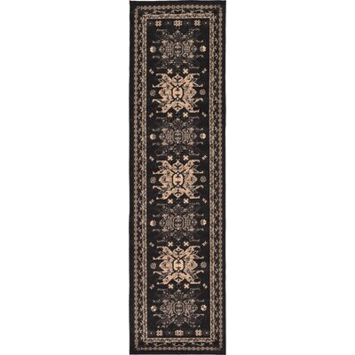 Valley Black Area Rug Rug Size: Runner 22 x 82