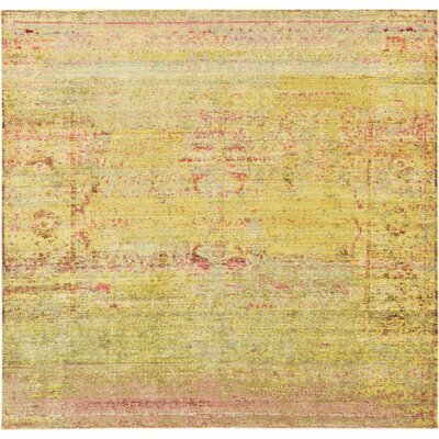 Danbury Yellow Area Rug Rug Size: Square 8
