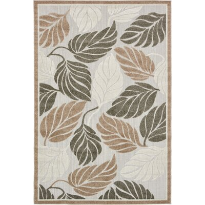 Brimfield Beige Indoor/Outdoor Area Rug Rug Size: 4 x 6