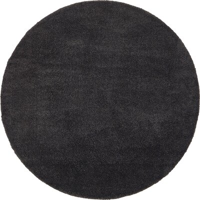Sydnee Charcoal Area Rug Rug Size: Round 8