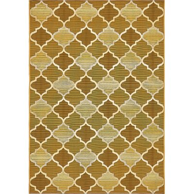 Alice Gold Indoor/Outdoor Area Rug Rug Size: Rectangle 4 x 6