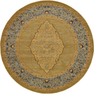Fonciere Light Brown Area Rug Rug Size: Round 8